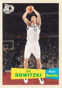 2007-08 Topps Basketball 50th Variation Dirk Nowitzki