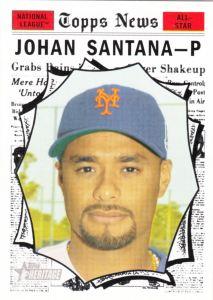 2010 Topps Heritatge Johan Santana AS