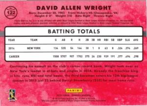 2015 Donruss David Wright back