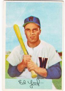 1954 Bowman Eddie Yost