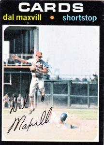 1971 Topps Dal Maxvill