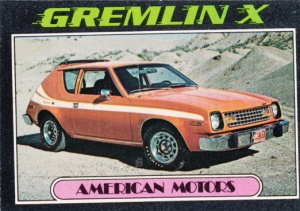 1976 Topps Autos Of 1977 Gremlin X