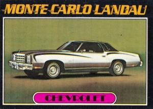 1976 Topps Autos Of 1977 Monte Carlo Landau