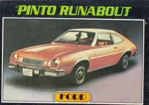 1976 Topps Autos Of 1977 Pinto Runabout