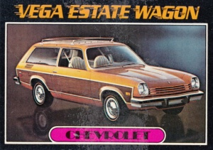 1976 Topps Autos Of 1977 Vega Estate Wagon