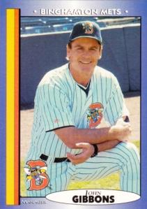 1998 Blueline Binghamton Mets John Gibbons