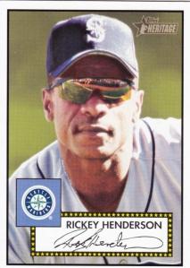 2001 Heritage Rickey Henderson