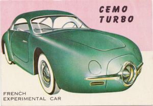 1954 Topps World On Wheels Cemo Turbo