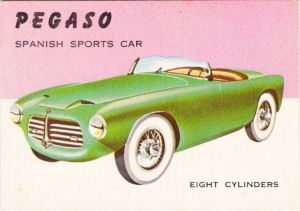 1954 Topps World On Wheels Pegaso