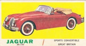 1961 Topps Sports Cars Jaguar XK-150