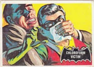 1966 Topps Batman Black Bat Chloroform Victim