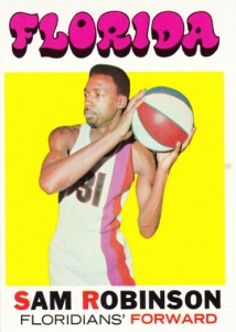 1971-72 Topps Basketball Sam Robinson