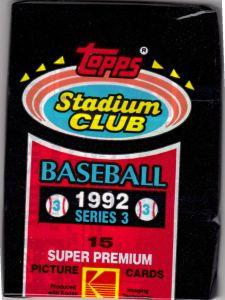 1992 Topps Stadium Club Series 3 Pack