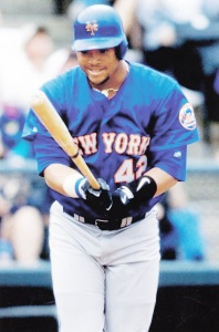 1998 Pinnacle Mets Snapshots Butch Huskey