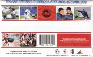 1998 Pinnacle Mets Snapshots pack back