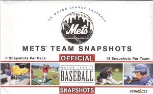 1998 Pinnacle Mets Snapshots pack front