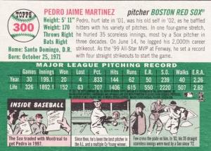 2003 Heritage Pedro Martinez back