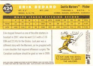 2009 Heritage Erik Bedard back