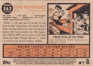 2011 Heritage Ivan Rodriguez back