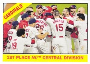 2015 Heritage Cardinals Team card