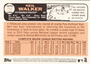 2015 Heritage Neil Walker back