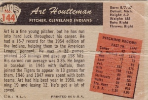 1955 Bowman Art Houtteman back