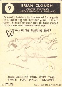 1960 A&BC Brian Clough back