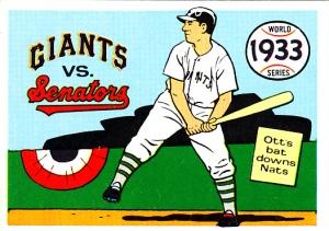 1970 Fleer World Series 30 Giants Senators