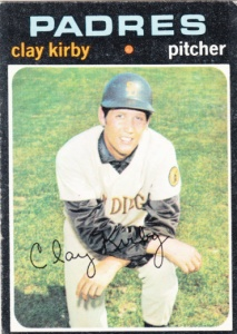 1971 Topps Clay Kirby