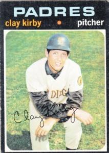 1971 Topps Clay Kirby