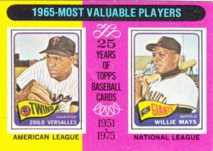 1975 Topps 1965 MVP Versailles Mays