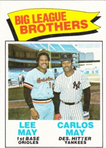 1977 Topps Big League Brothers - May