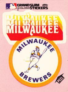 1978 Fleer Grand Slam Sticker Brewers