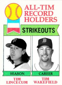 1979 Topps All Tim Strikeouts Lincecum Wakefield