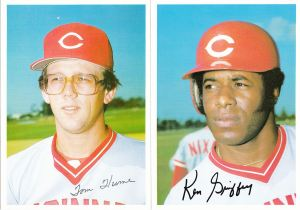1981 Topps Reds 5x7 Hume Griffey