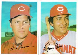 1981 Topps Reds 5x7 Seaver Bench