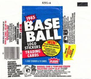 1985 Fleer Baseball wrapper