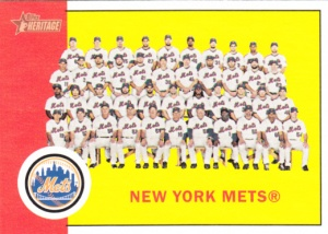 2012 Heritage Mets Team Card