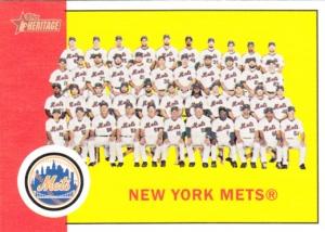 2012 Heritage Mets Team Card