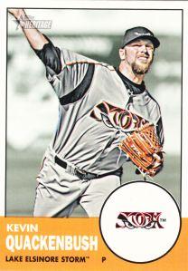 2012 Topps Heritage Minor League Kevin Quackenbush