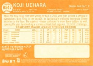 2013 Topps Heritage Hi # Koji Uehara