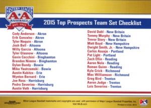 2015 Grandstand EL Top Prospects Checklist