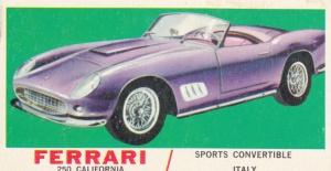 1961 Topps Sports Cars Ferrari 250 California