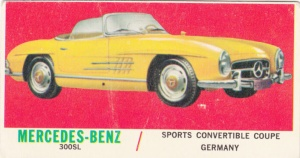 1961 Topps Sports Cars Mercedes-Benz 300SL