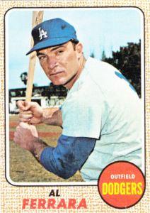 1968 Topps Al Ferrara