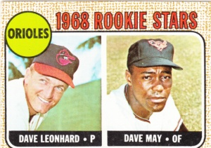 1968 Topps Orioles Rookies Leonhard May