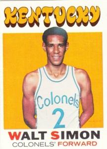 1971-72 Topps Basketball Walt Simon