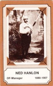 1975 Fleer Pioneers Of Baseball Ned Hanlon
