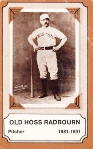 1975 Fleer Pioneers Of Baseball Old Hoss Radbourn
