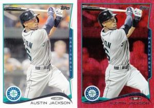 2014 Topps & parallel Austin Jackson